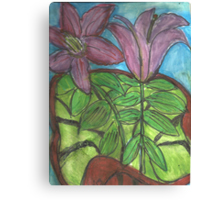 May Bouquet of Lillies Canvas Print