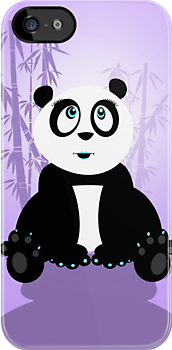 Panda Girl - Purple by Adamzworld