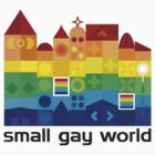 Small Gay World - Light Background by Bear Pound