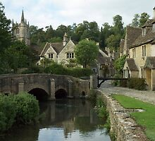 The English Village of Castle Combe, England by Graeme Rouillon