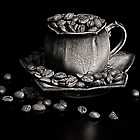 Coffee in monochrome by Andy Burke