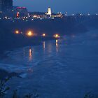 Niagara Falls - City Of Lights by Barry W  King