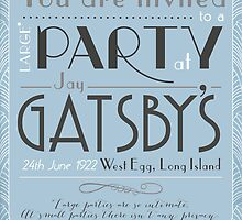 Party at Gatsby's Invitation by lisa86f