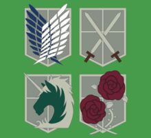 Attack on Titan Crests by gtooth