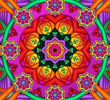 Happiness, fractal mandala / kaleidoscope artwork by walstraasart