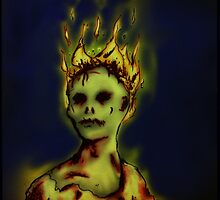 Flaming Zombie by Kingsley Ravenscroft