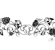Skulls and Roses by LaceyRose