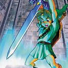 Ocarina of Time - Link Master Sword iPhone Case by squidkid