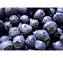 Burst of Blueberries Photographic Print