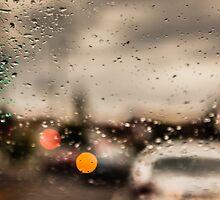 Melbourne Twilight - Lights, rain and movement by KittieEmpire