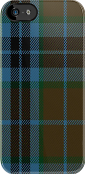 00007 Thompson-Thomson-MacTavish Hunting Tartan Fabric Print Iphone Case by Detnecs2013