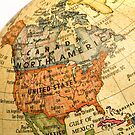 Mini Globe North America map by totorat