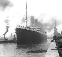 Titanic at the docks of Southampton by TilenHrovatic