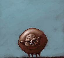 Grumpy Old Fat Pig with Nose Ring by astralsid