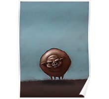 Grumpy Old Fat Pig with Nose Ring Poster