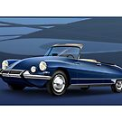 Citroen DS Decapotable Poster Illustration by Autographics