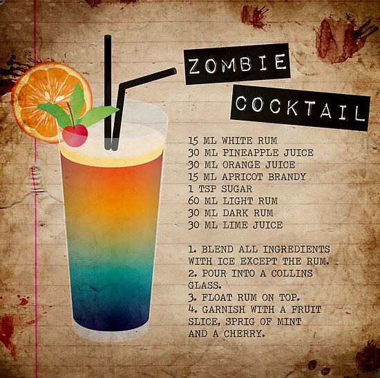 "Zombie Cocktail Recipe"" by The Eighty-Sixth Floor 