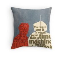 Back to the Future: A Time Machine out of a DeLorean Throw Pillow