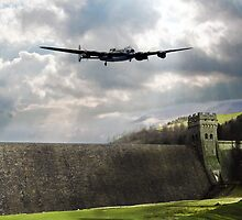 The Dam Busters over The Derwent by James Biggadike
