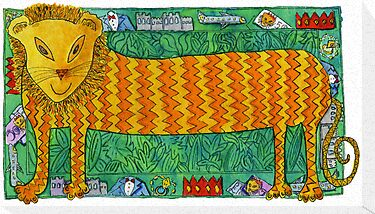 Long Lion by Julie Nicholls