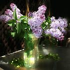 Lilacs in a Vase by Nadya Johnson