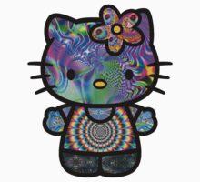 Psychedelic Hello Kitty by CloeyAlexandra