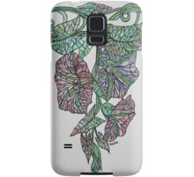 Vintage Style Stained Glass Morning Glory Samsung Galaxy Case/Skin