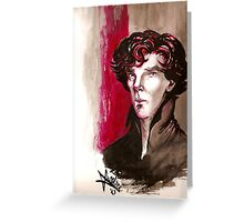 Sherlock - Into Darkness Greeting Card