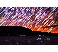 Star Trails Over Death Valley Racetrack Playa Photographic Print