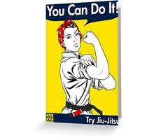 Try Jiu-Jitsu Greeting Card