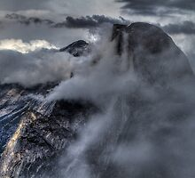 Half Dome, Yosemite in low cloud by AntonyMeadley