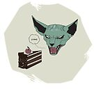 Lying cat vs. Portal cake by Alii Marie