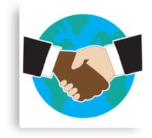 World Hand Shake Canvas Print