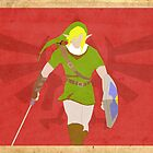 Link Red Poster by Llamasaurus