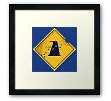 Dalek Crossing Framed Print