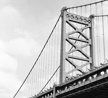 Benjamin Franklin Bridge, Philadelphia by Jip van Kuijk