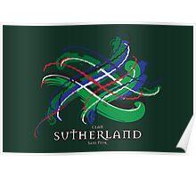 Sutherland Tartan Twist Poster