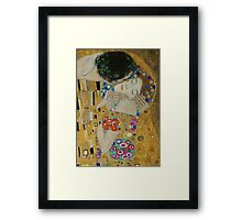 Gustav Klimt - The Kiss (detail) Framed Print
