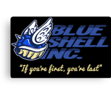 Blue Shell Inc. (no distressing) Canvas Print