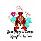 Your Alpha and Omega Iphone Tattoo Design by Charldia