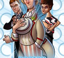 Doctor Who, Tegan and Turlough by Jon Pinto
