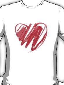 Valentines Crayon Heart T-Shirt
