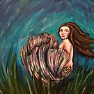 Armina- Mermaid Art Print by Angela Morgane