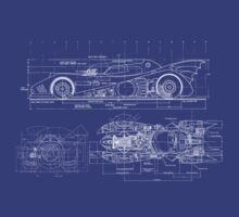 Batmobile Blueprint by SwiftWind