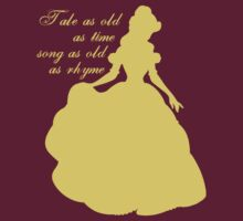 Belle Silhouette from Beauty and the Beast by sweetsisters