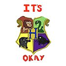 It's Okay Hogwarts iPhone Cover/Case by Harry Martin