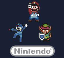 Nintendo Shirt - Mario, Zelda, Megaman by jackyboi