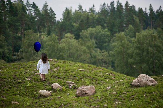 Blue Balloon... by Carol Knudsen