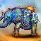 magic rainbow elephant by Karin  Taylor