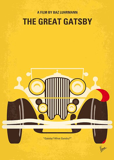 No206 My The Great Gatsby minimal movie poster by Chungkong